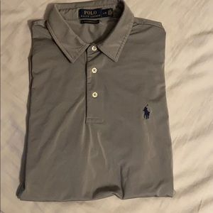 Gray Ralph Lauren performance polo